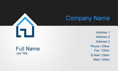 Black and Grey Property Management Business Card Template